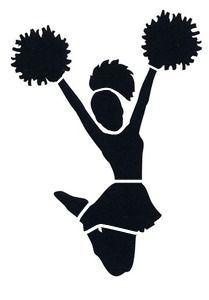 209x300 Free Cheer Sillohette Clip Art Black And White Cheerleader Clip