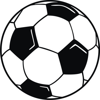 350x350 Football clipart black and white free images 3