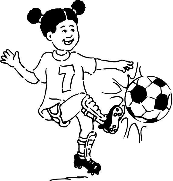 Football Clipart Black And White
