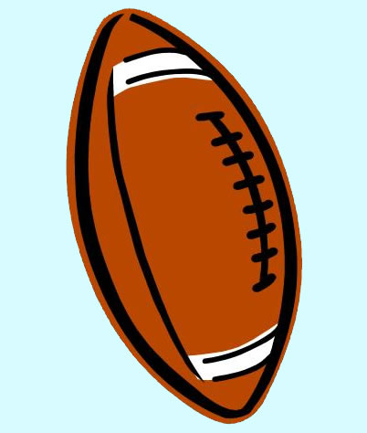 402x474 Clip Art Football Black And White Free Clipart 2