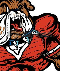 236x280 Vector Clip Art Of Bulldog Football