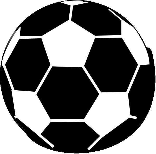 600x590 Clip Art Black And White Football Clipart