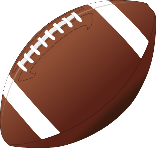 600x570 American Football Ball Clip Art