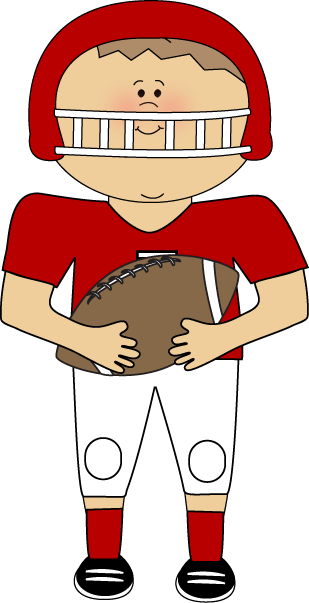 309x603 Image Of Football Player Clipart