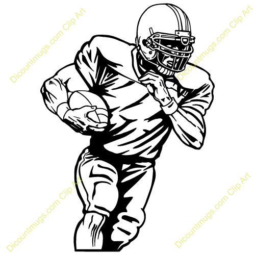 500x500 Clipart Of A Football Player