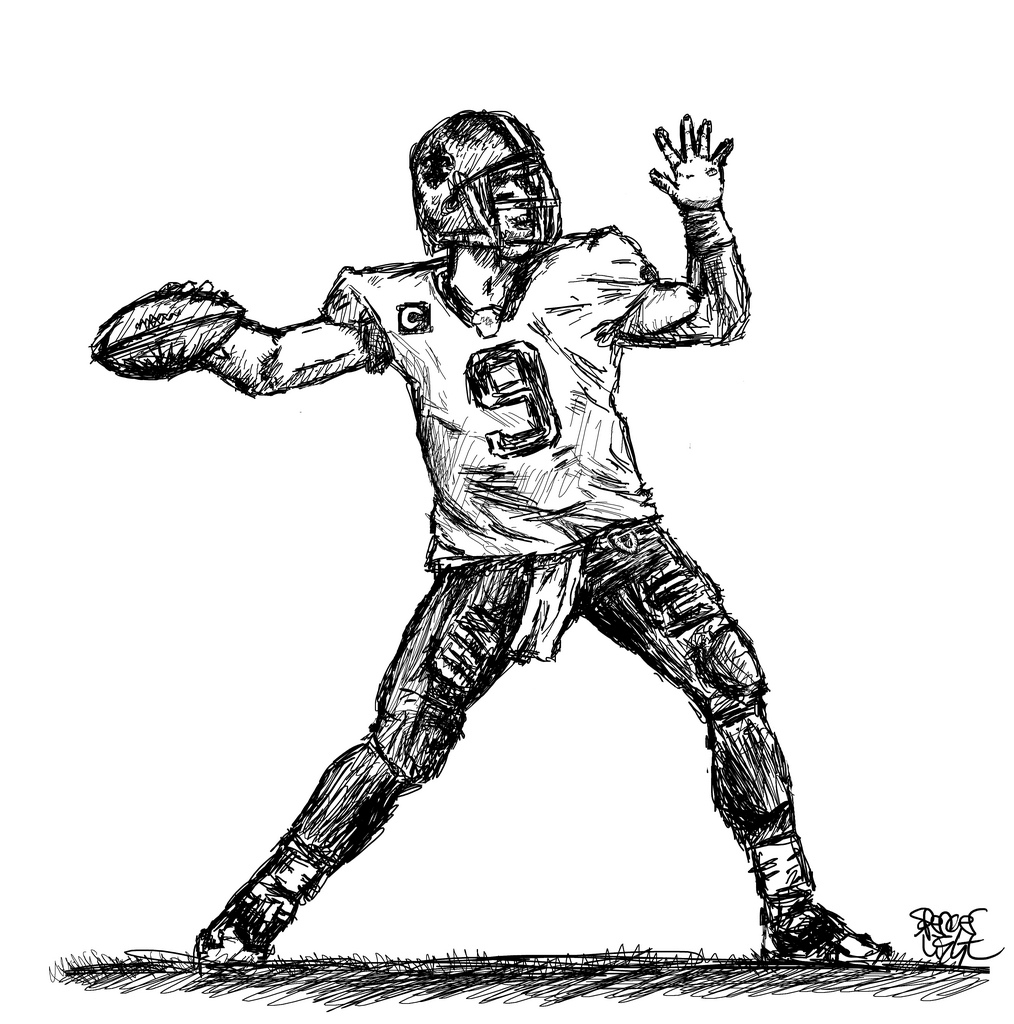 1014x1024 How Do You Draw A Football Player Football Drawing Clipartsco