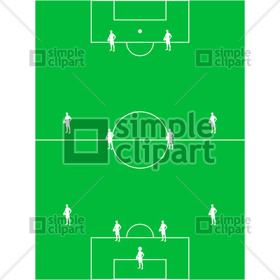 400x400 Football (Soccer) Field With The Arrangement Of Players 4 4 2