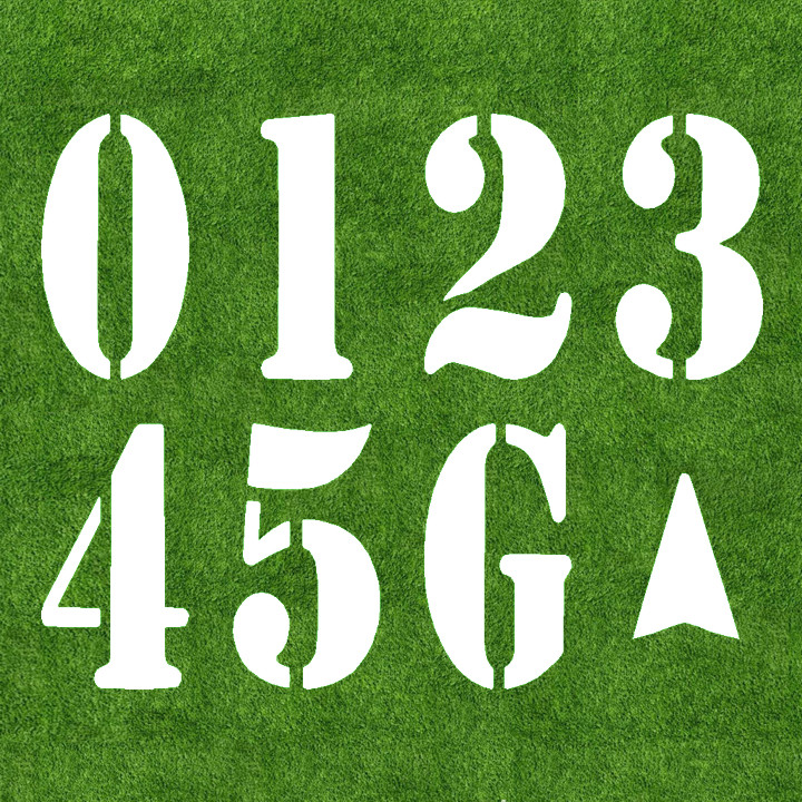 720x720 6#39 US Football Field Number Kit Fast Line