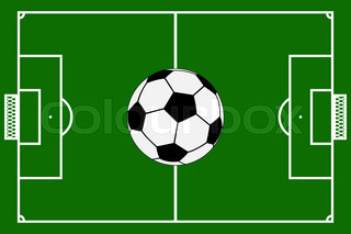 320x213 Green football field vector template Stock Vector Colourbox