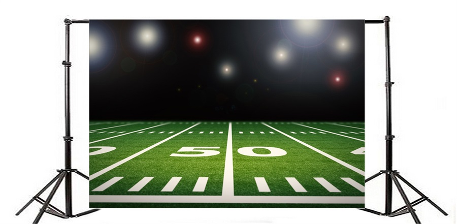 900x441 Laeacco Bright American Football Field Photography Backdrops Vinyl
