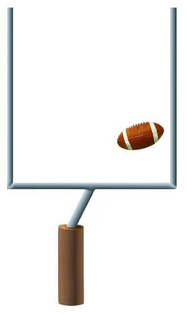 381x640 American Football Goal Post Clipart