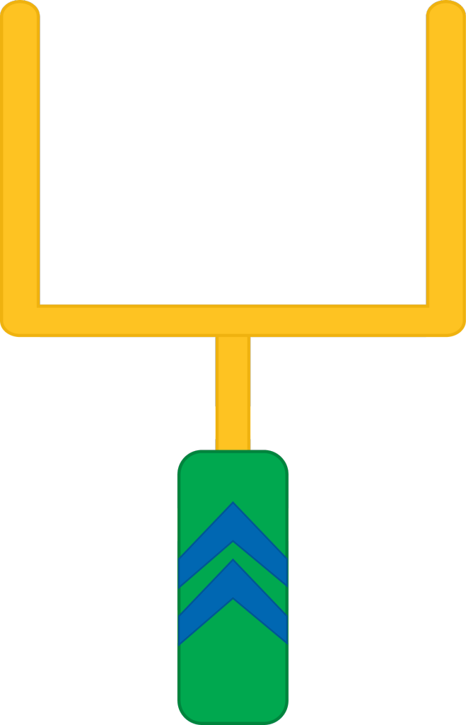 659x1024 Football Field Goal Post Clipart