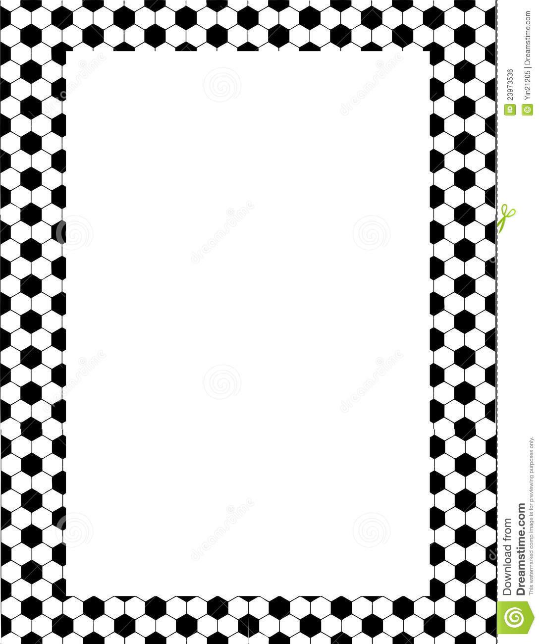 1092x1300 Football Borders Clipart