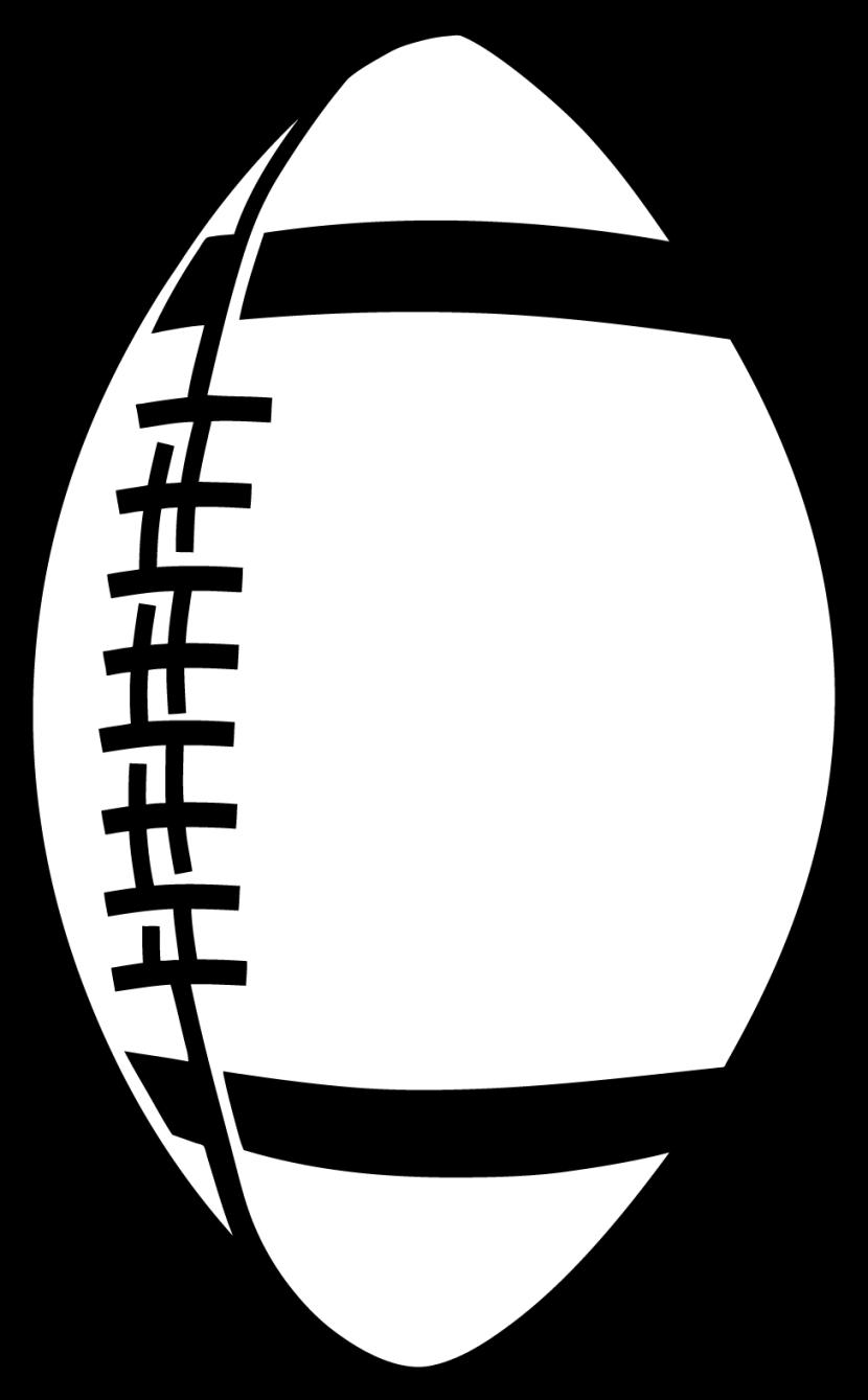 830x1339 Monochrome Clipart Football