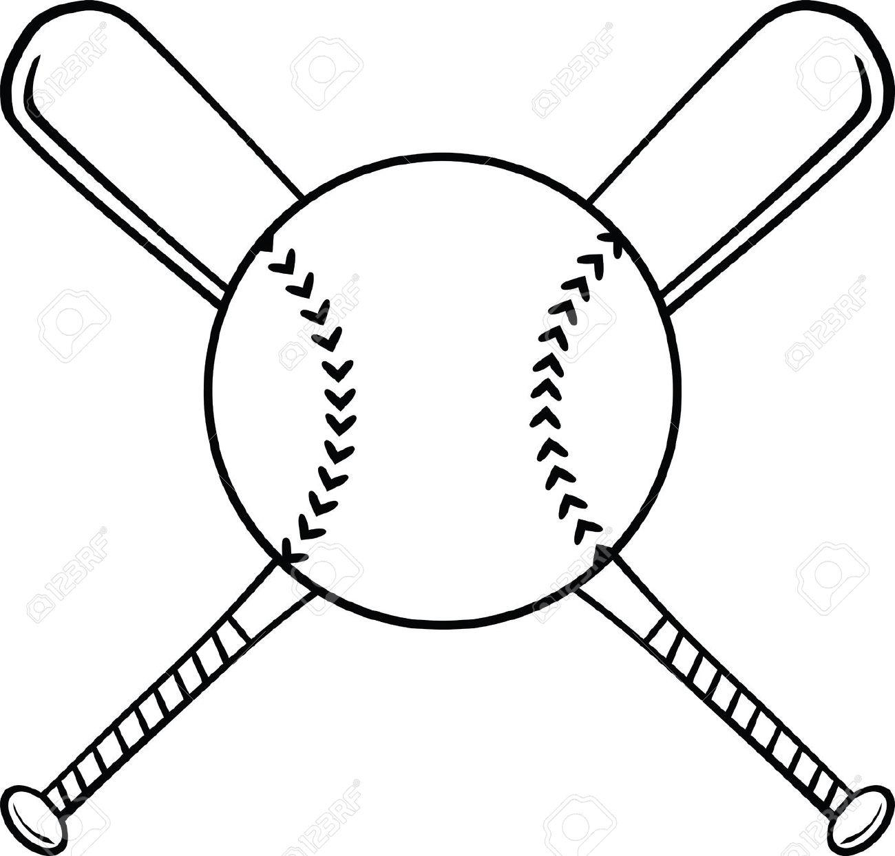 1300x1244 Softball Ball And Bat Clipart