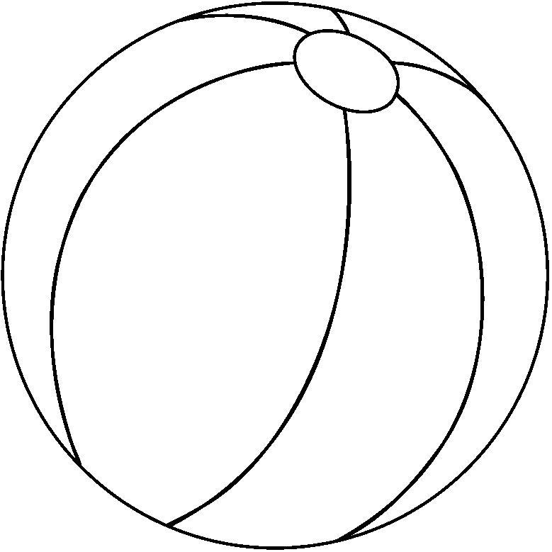 779x779 Ball Clipart Black N White