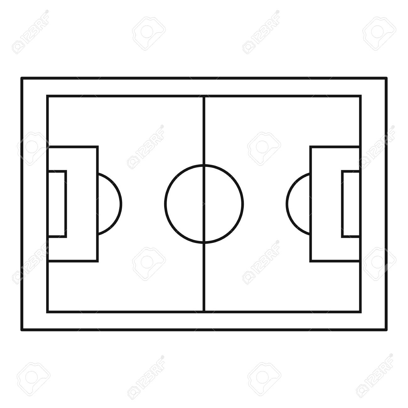 1300x1300 Pitch Layout Football Blueprint Design Evacuation Plan Example