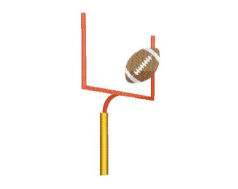 340x270 Football Goal Post Clipart