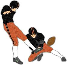 221x213 Football Kicker Clipart