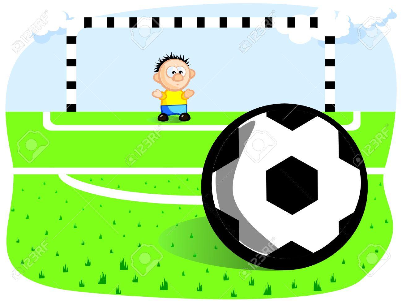 1300x973 Football Clipart Goalie
