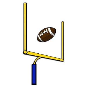 300x300 Football Goal Post Clip Art