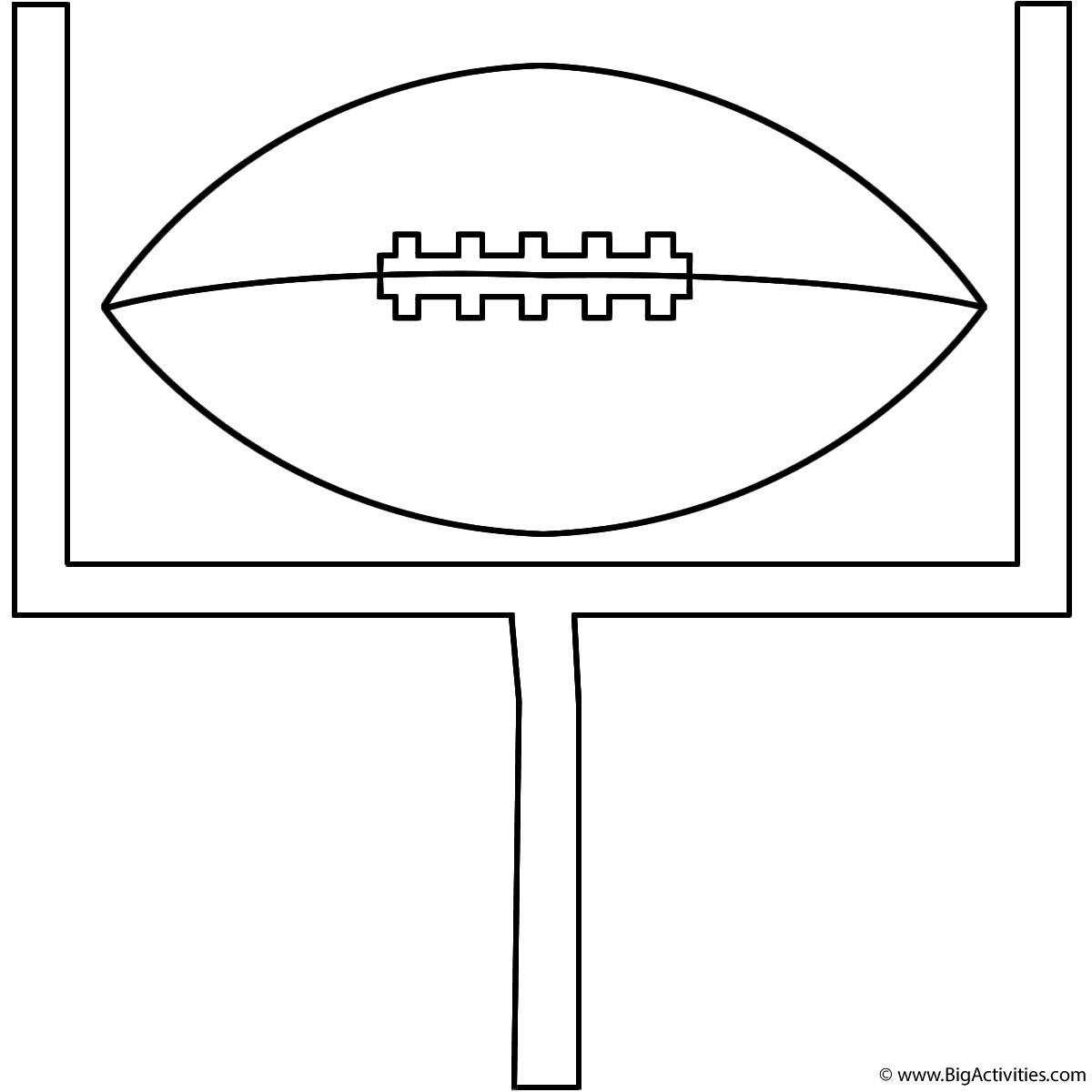 1200x1200 Football On Goal Post