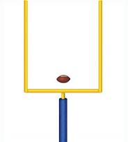 184x205 Free Football Goal Post Clipart