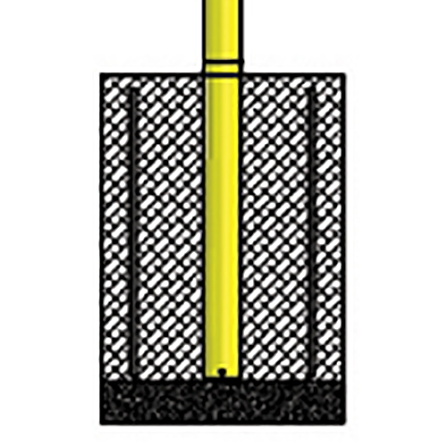 500x500 Steel Football Goal Post (Yellow) Jaypro Sports Equipment