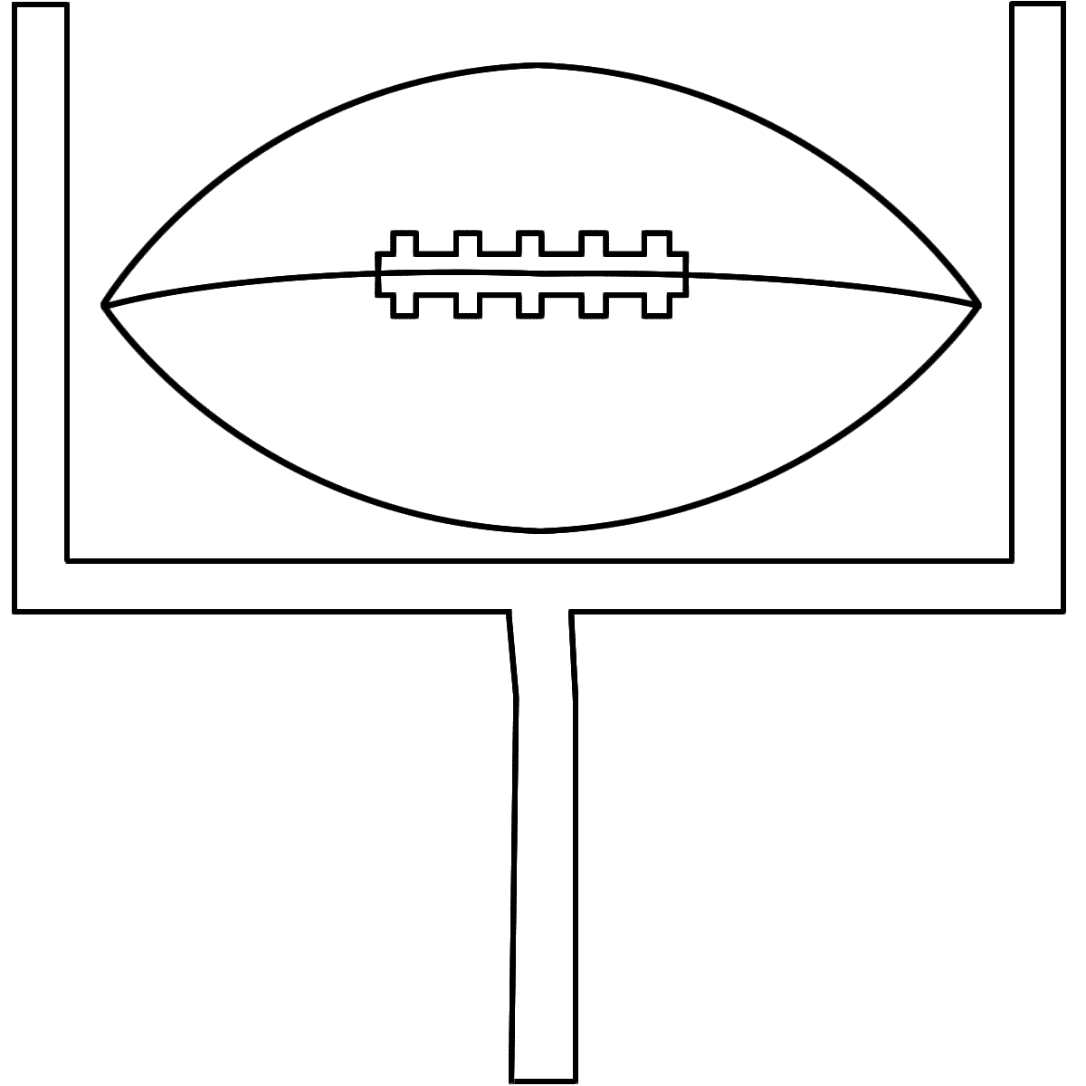 1200x1200 Football Field Coloring Page For Our Family Printable Free