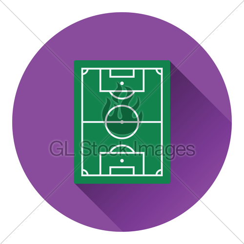 500x500 Icon Of Football Field Gl Stock Images
