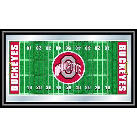 466x466 Ohio State Framed Football Field Mirror