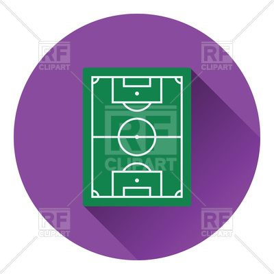 400x400 Round Icon Of Football Field Vector Clipart Image