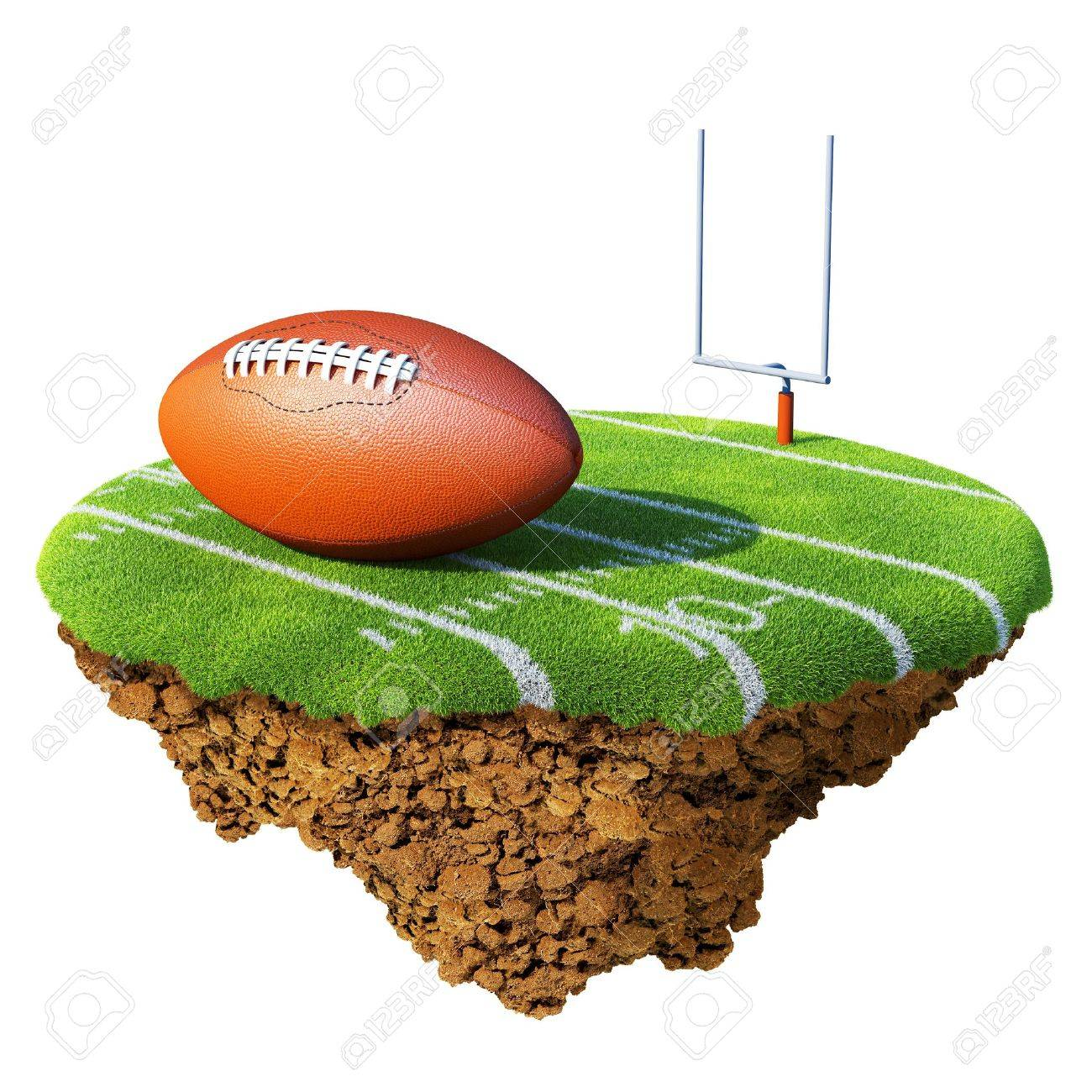 1300x1300 American Football Field, Goal And Ball Based On Little Planet