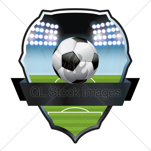 500x500 Soccer Football Field And Ball Illustration Gl Stock Images