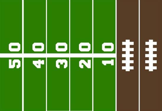 550x376 Football Field Paper