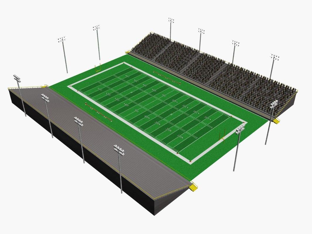 1066x800 American Football Stadium 3d Models For Download Turbosquid