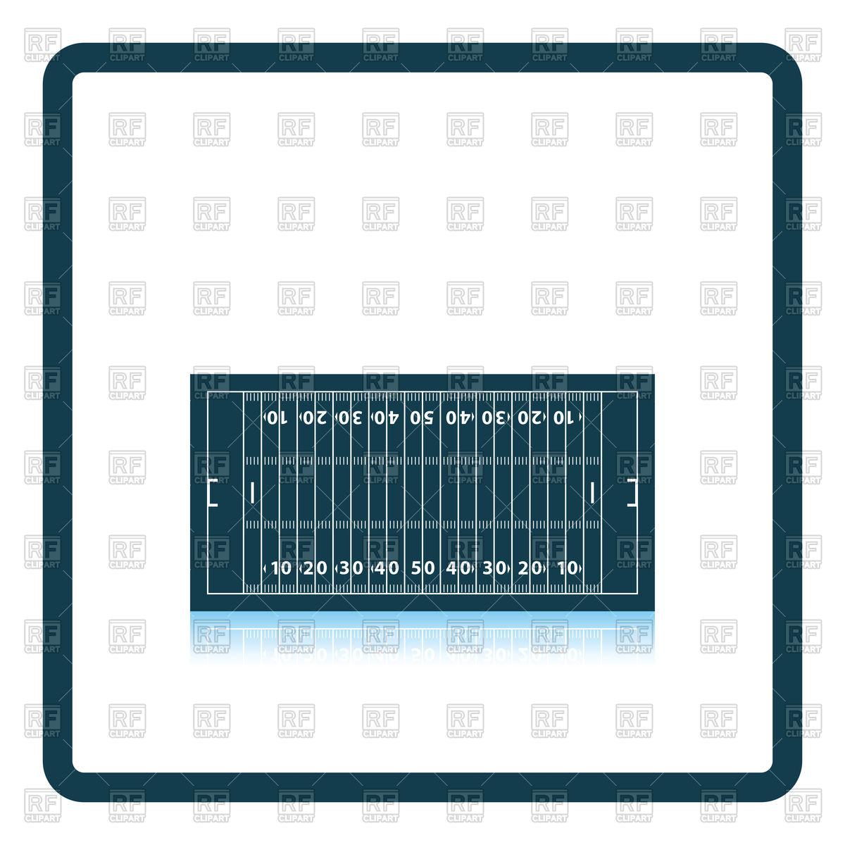 1200x1200 American Football Field Mark Icon Vector Clipart Image
