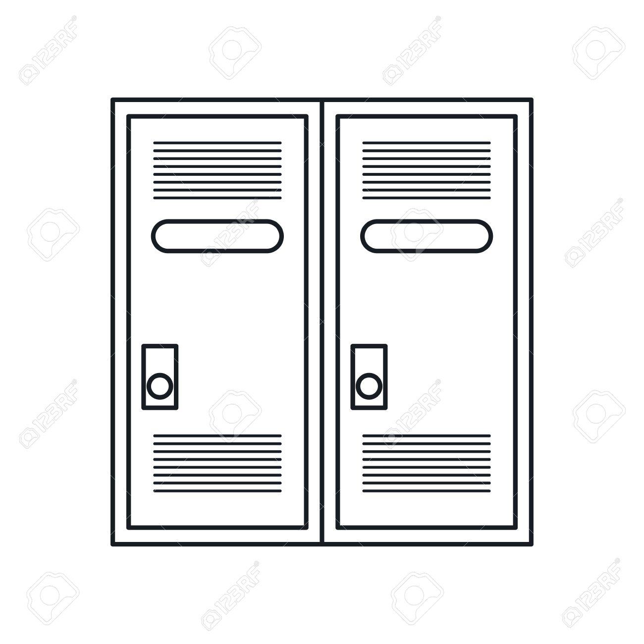 1300x1300 Locker Room American Football Outline Vector Illustration Eps