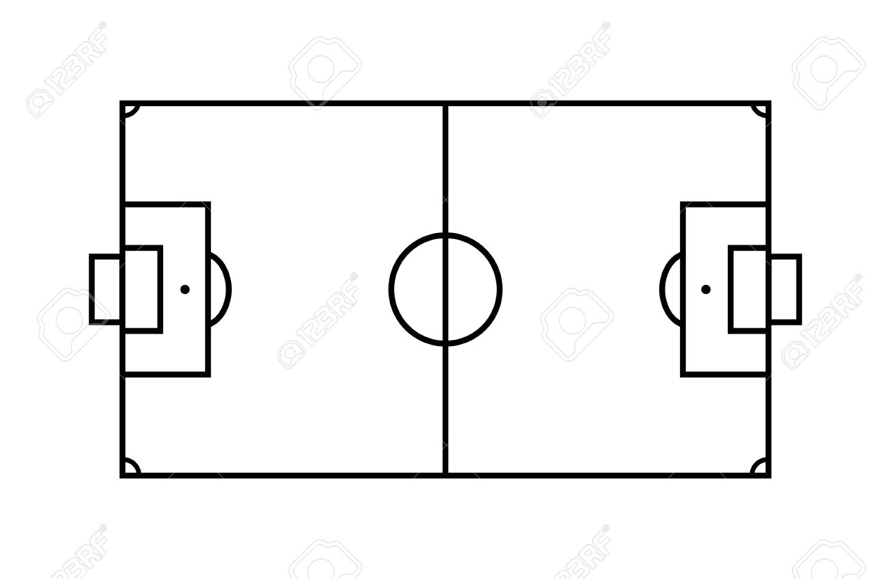 1300x845 Outline Soccer Field. Royalty Free Cliparts, Vectors, And Stock
