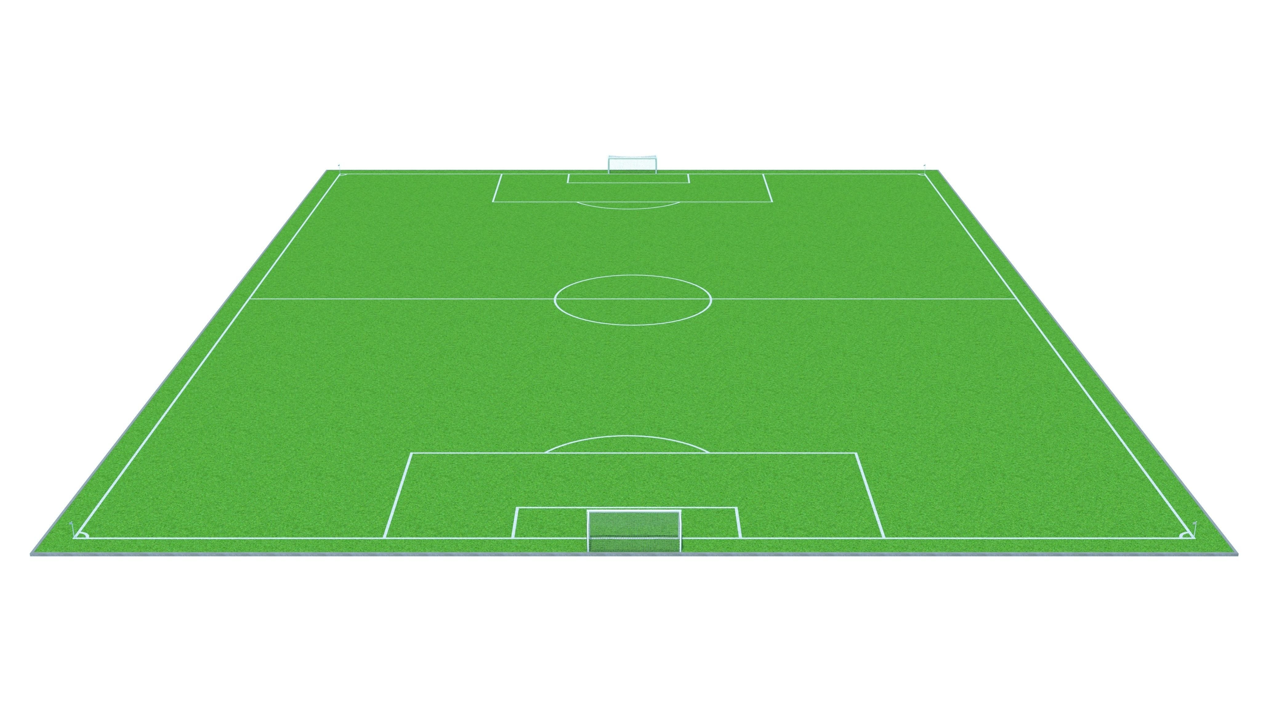 4096x2340 3d Model Game Ready Football Field Cgtrader