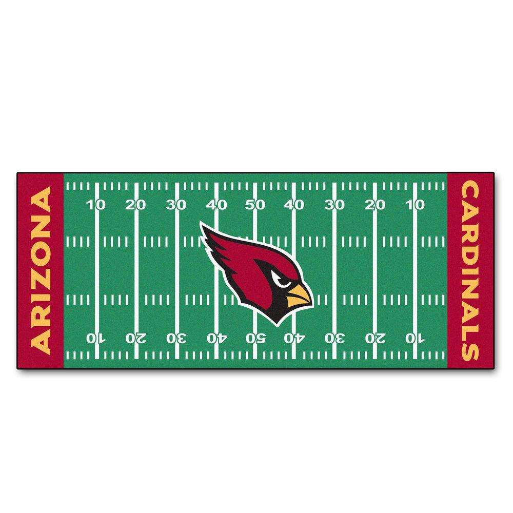 1000x1000 Fanmats Arizona Cardinals 2 Ft. 6 In. X 6 Ft. Football Field Rug