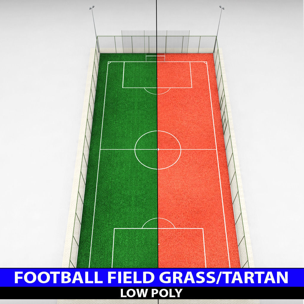 1024x1024 Football Soccer Stadium Field Low Poly 3d Model Cgtrader