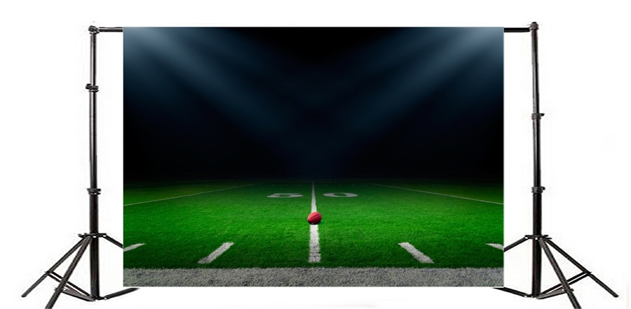 900x441 Laeacco American Football Field Scenic Photography Backdrops Vinyl