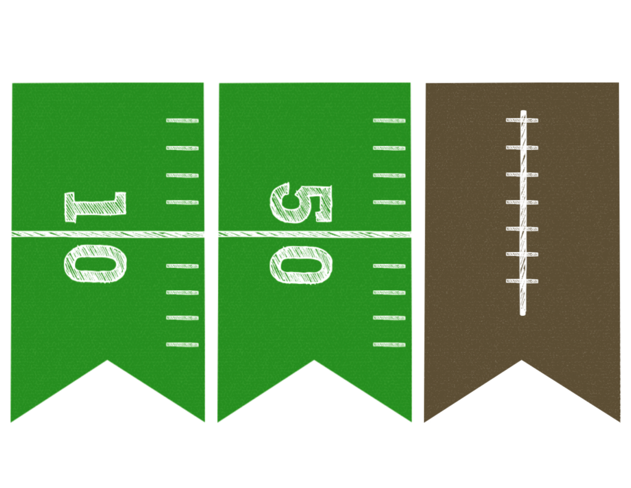 2200x1700 Football Banner Free Printable {Football Party}