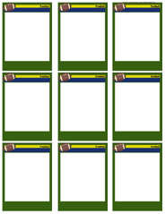 184x239 Football Card Templates