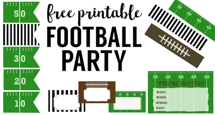 700x375 Football Party Invitation Template {Free Printable}