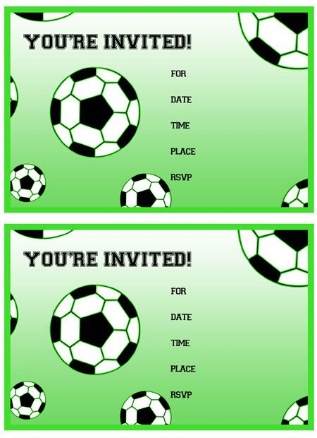450x620 Free Printable Soccer Birthday Party Invitations