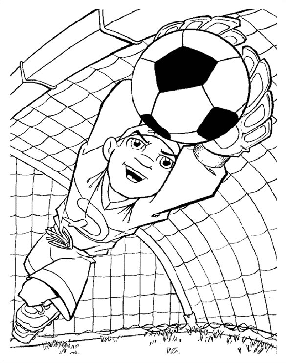 585x743 Pics Coloring Football Coloring Pages Printable With Football