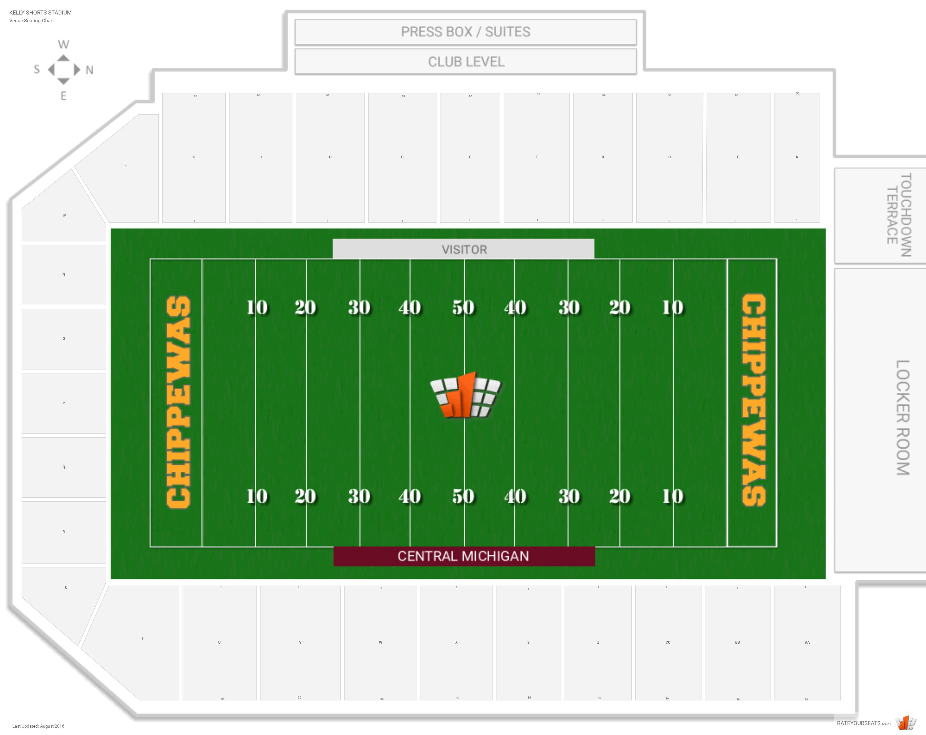 3000x2381 Central Michigan University Football Stadium Seating Chart