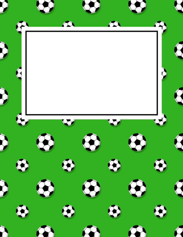 600x776 Free Printable Soccer Ball Binder Cover Template. Download